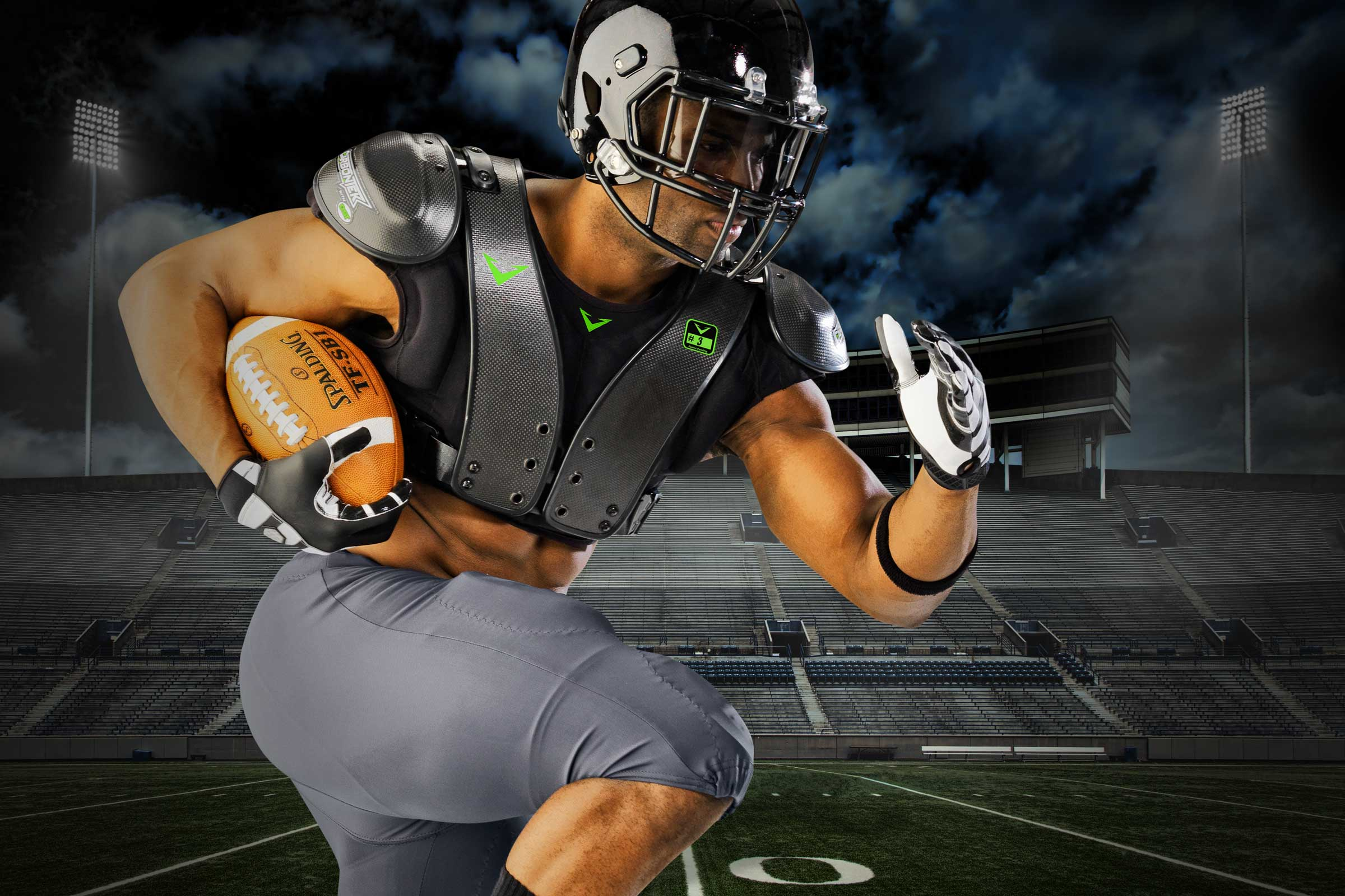Revolutionary Carbon Fiber Shoulder Pads for Football - CarbonTek™ b51e8a457